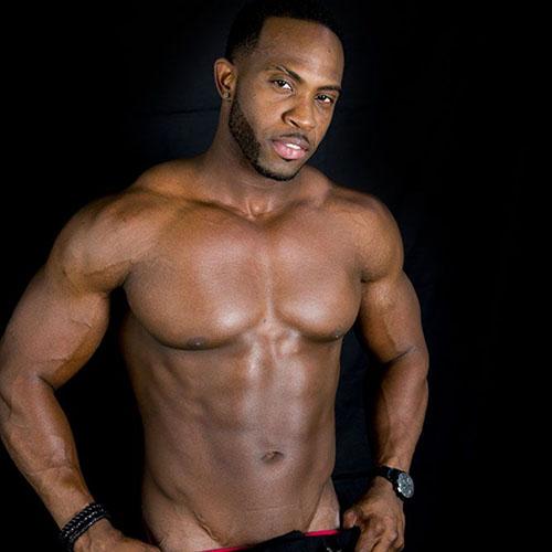 donkere mannelijke stripper El Grande